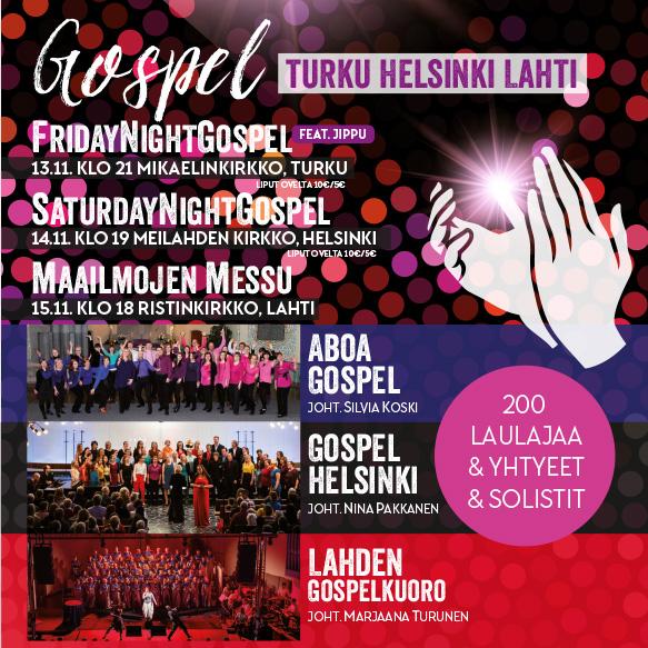 Aboa Gospel, Gospel Helsinki ja Lahden Gospelkuoro yhteiskiertueelle