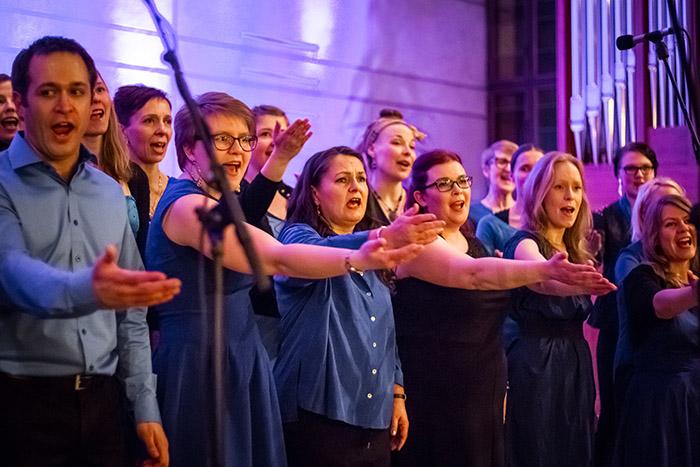 Gospel Helsingin koelaulut tammikuussa