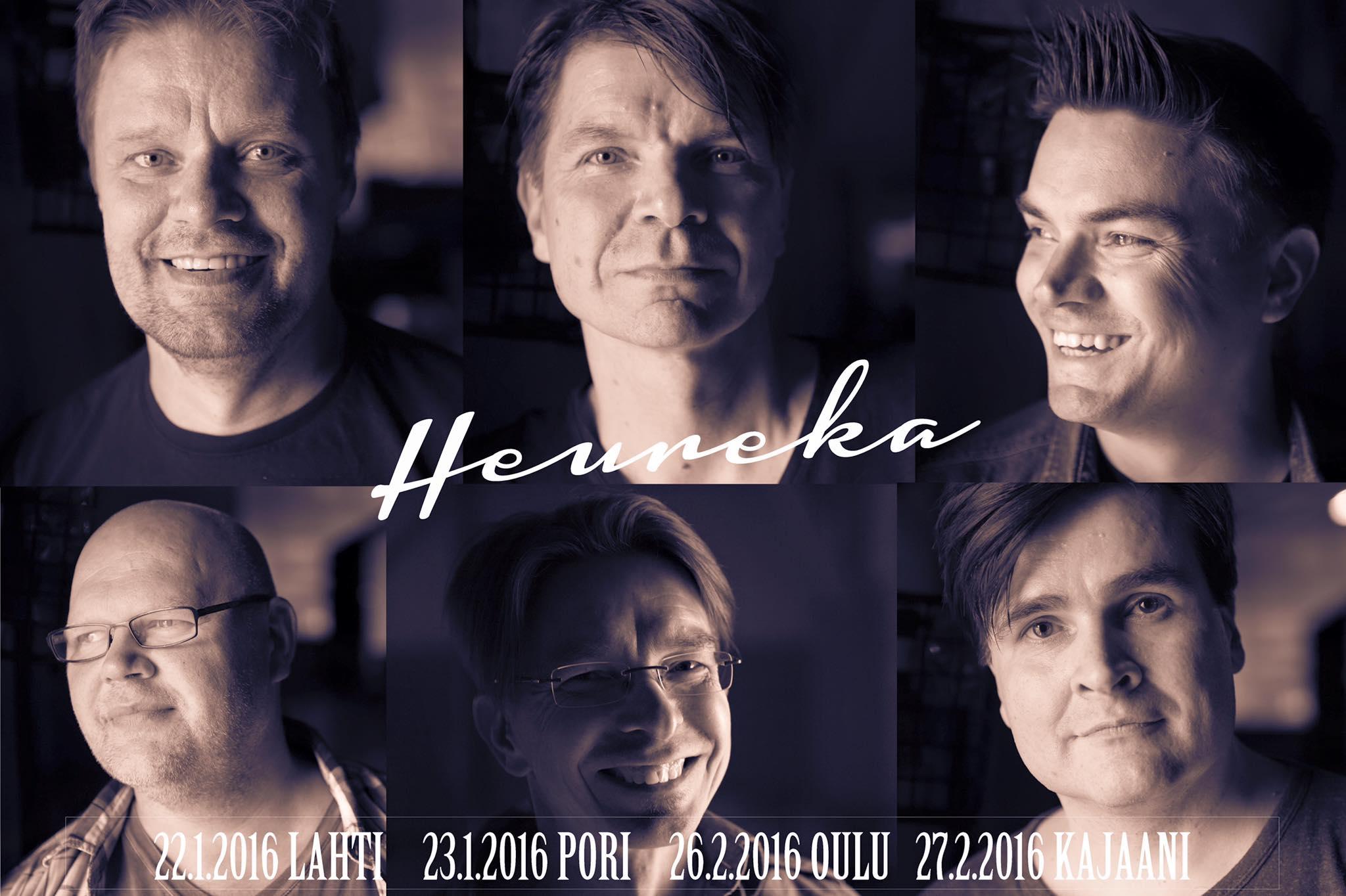 Heureka Reunion -kiertue käynnistyy perjantaina Lahdesta
