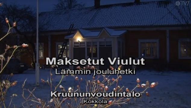 Maksetut Viulut -yhtyeen Lämmin jouluhetki -konsertti TV7-kanavalla