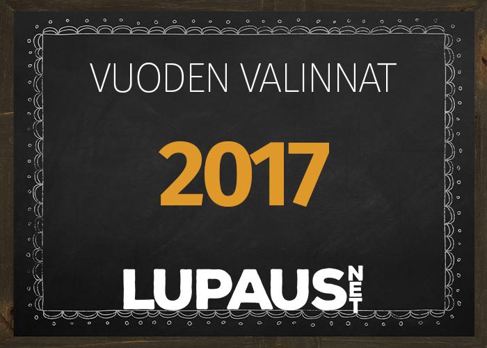 LupausNetin Vuoden Valinnat 2017 julkaistaan huomenna tiistaina